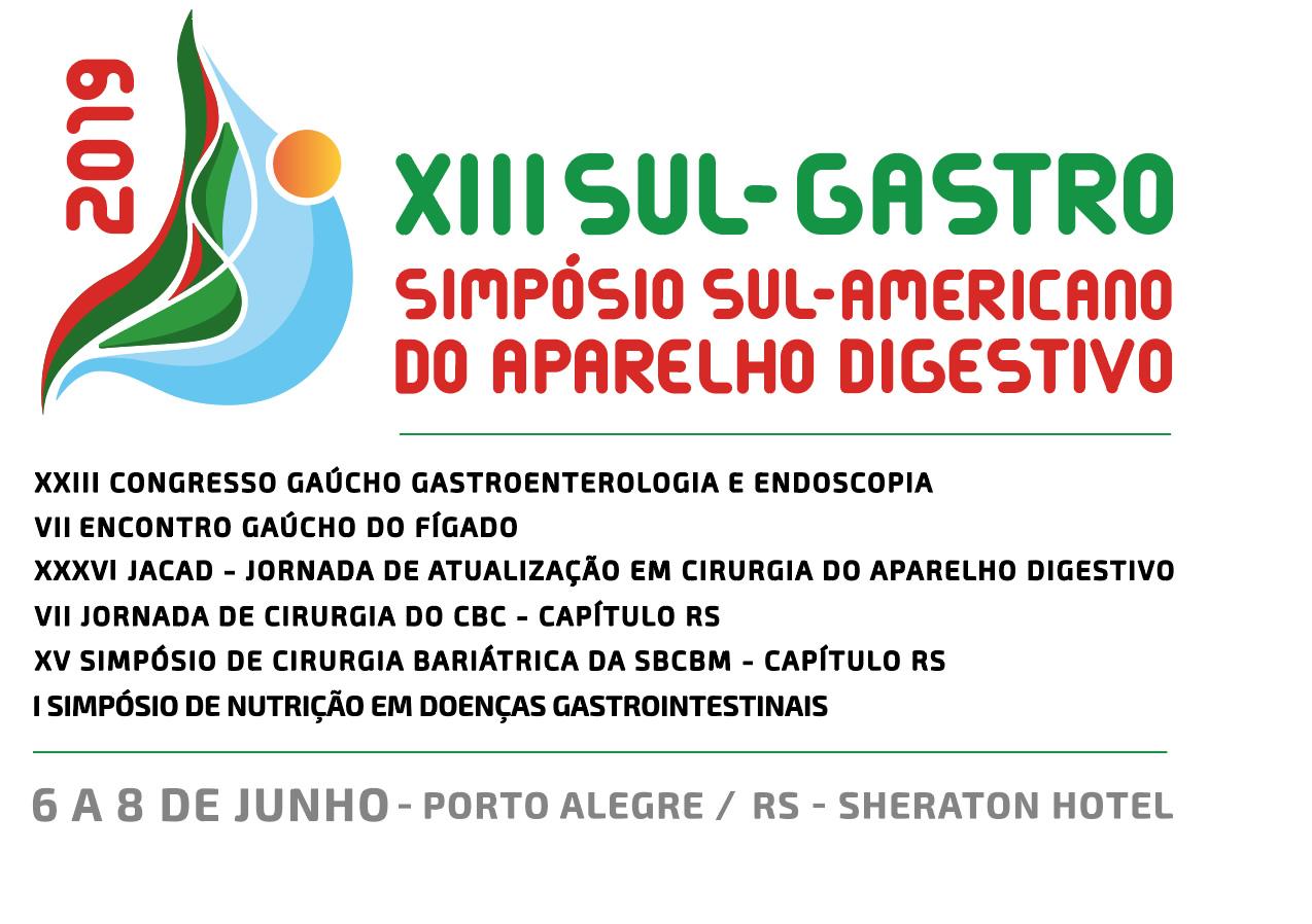 XIII SUL – GASTRO (SIMPÓSIO SUL-AMERICANO DO APARELHO DIGESTIVO